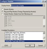 Configure Monitor