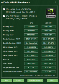 Quadro FX 570 GPGPU